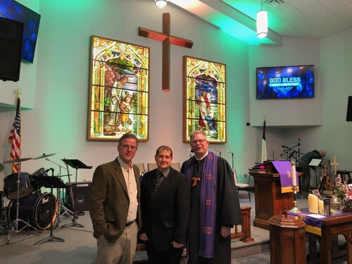 President, Mark Grigsby, Project Manager Erich Reggi, and Reverend Mark Smith pictured above.