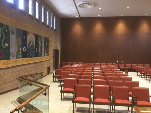 A new leveled floor allows for better access to the bimah.